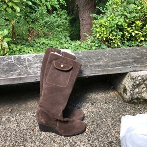 Brown suede wedge boots by Aerosoles. Size 8.5